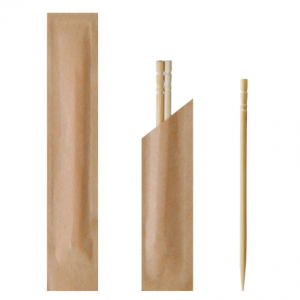 Bamboo Toothpicks Dual stick pack (Pack of 500 pcs)