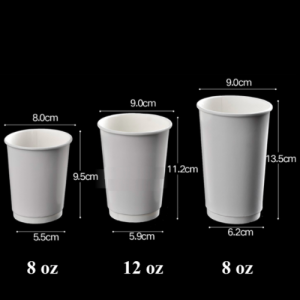 White Double wall recycle hot cup (Pack of 500 pcs)