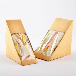 Recycled Kraft Paper Window Sandwich Wedge (Pack fo 500 pcs)