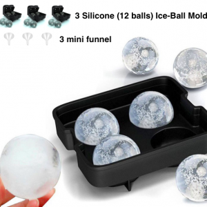 Silicone Ice Ball Maker (Pack of 3 sets)