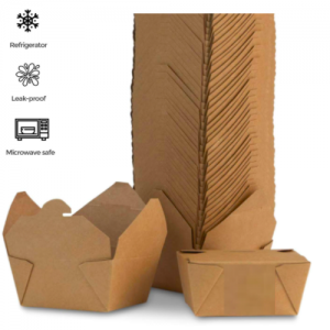 Kraft Brown Take Out Boxes 1400ML – Pack of 100 pcs