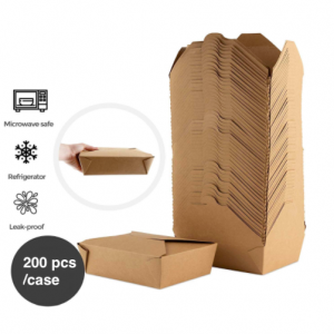 Kraft Brown Take Out Boxes – Pack of 200 pcs
