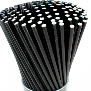 Biodegradable Black Paper Straws(Pack of 10k)
