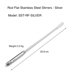 Rod-Flat Stainless Steel Stirrers (Pack of 100 pcs)