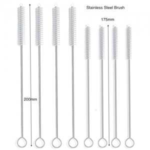 Stainless Steel Straw Cleaning Brush (Pack of 10 pcs)