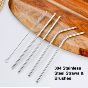 Stainless Steel Straws (Pack of 100 pcs)