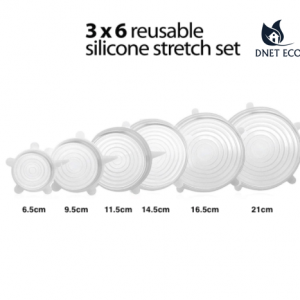 Silicone Stretch Lids. 18 Pieces to Keeping Food Fresh