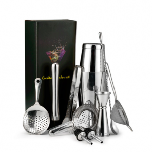 Bartender Kit: 11-Pieces Bar Tool Set