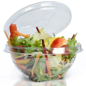PET Salad Bowl 750ml (24oz) with Lid (Pack of 500 pcs)