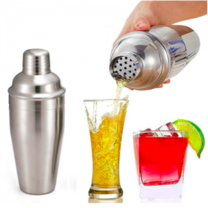 Cocktail Shaker, Martini Shaker 500ml Stainless Steel (Pack of 4 sets)
