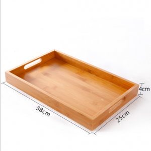 38mm Bamboo Serving Tray with Handles (Set of 10 pcs)