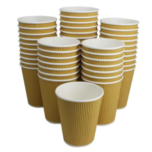 Corrugated Strip Paper Coffee Cups(Pack of 500pcs)