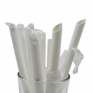 Bubble Tea Straws 12mm/197mm – White Paper Drinking Straws, Individual Pack Eco-friendly (Pack of 5K pcs)