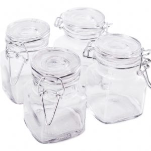 Rectangular Glass Jar Airtight lock Storage Container (set of 9)