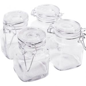Rectangular Glass Jar Airtight lock Storage Container (set of 9)