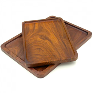 Walnut Wood Serving Tray (Set of 10 pcs)
