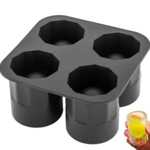 Ice Shot Glass Tray – Makes 4 Shot Glasses – Silicone – Dishwasher Safe