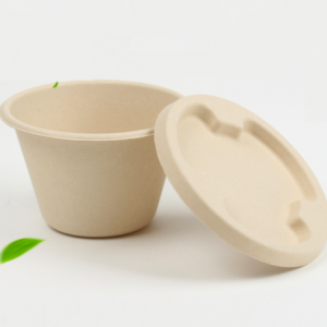 16 OZ Wheat Straw Pulp Disposable Bowls Eco-Friendly Biodegradable & Compostable Bowl (Pack of 500 sets)