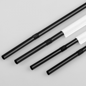 Recyclable PLA Bendable Black Straws (Pack of 10K)