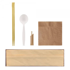 Cutlery Set: Chopstick|Spoon|Toothpicks|Napkin (500pcs/ctn)