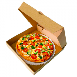 Premium Kraft Corrugated Pizza Boxes Take Out Containers Pizza Paperboard Box (Pack of 100)