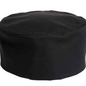 Cotton Chef Hat Cap Adjustable – Black Cotton Top (10 pcs)