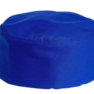 Cotton Chef Hat Cap Adjustable – Blue Cotton Top (10 pcs)