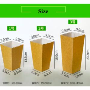 Kraft Paper Popcorn Containers (500 pcs)