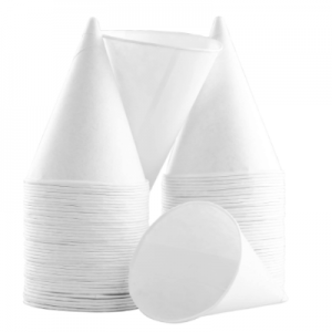 Eco-Friendly Small White Paper Cone Cups (5000 pcs)