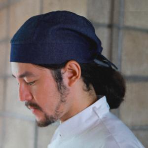 Japanese Turban Denim Pirate Chef Hat (5 pcs)