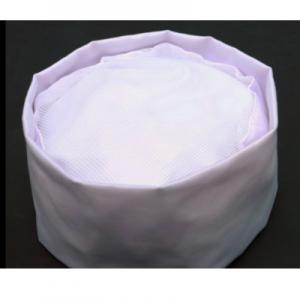 Cotton Chef Hat Cap Adjustable – White Net Top (10 pcs)