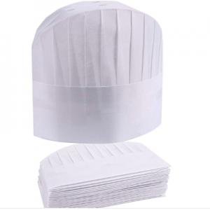 Disposable Non Woven Oval Top Medium Chef Hat White (100 pcs)