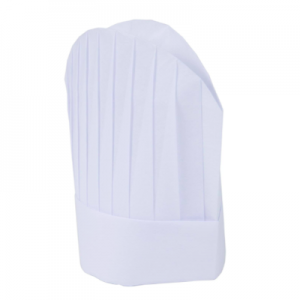 Disposable Non Woven Oval Top Tall Chef Hat White (100 pcs)