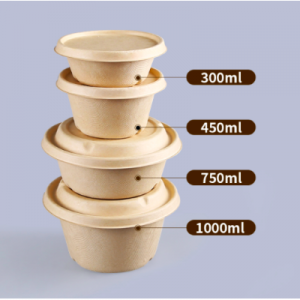 Biodegradable, Plant-Based, Tree Free, Disposable Pulp Bowls (200 sets)