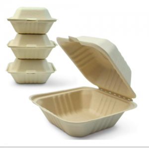 450ml Wheat Straw Pulp Disposable Clamshell Hamburger container (500 pcs)