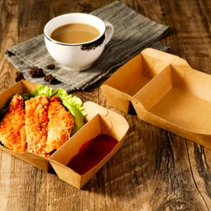 Kraft Paper Boat Food Tray 2 compartment (1,000 pcs)