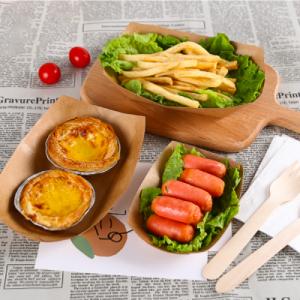 Kraft Paper Boat Food Tray 6 sizes (1,000 pcs)