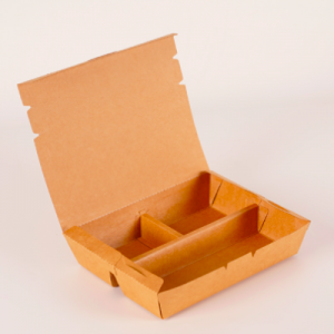 Kraft Paper Clamshell Bento Takeout box (Pack of 200 pcs)