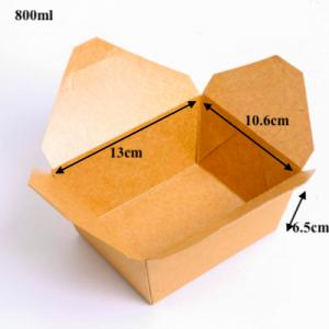 Kraft Brown Take Out Boxes 800ML – Pack of 400 pcs