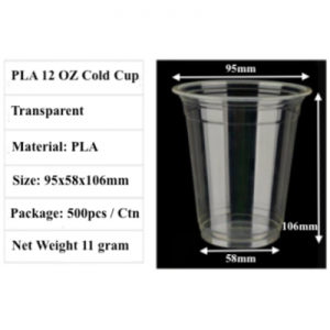 PLA Compostable Cold Cup (500 pcs)
