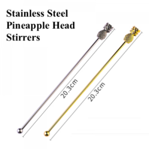Stainless Steel Pineapple Head Stirrers(Pack of 10pcs)