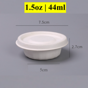 1.5OZ Condiment Wheat Straw Pulp Cup with Paper Lid (1000 pcs)