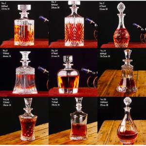 Whiskey Bottle – Crystal Glass